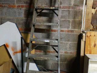 7 Step Metal ladder