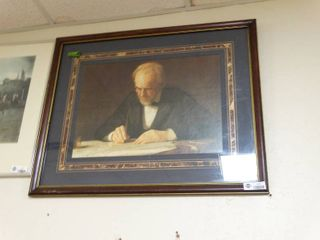 Nice Picture frame of a man writing