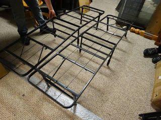 Black Metal Platform Bed Frame