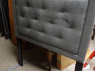 Twin Grey Upholstered Headboard
