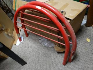 Unique Red Rounded Matching Head and Foot Board