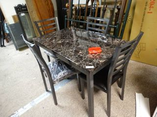 New Imitation Marble table and 4 chair set