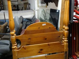 Tall Post Twin Wooden Matching Head and Foot Board