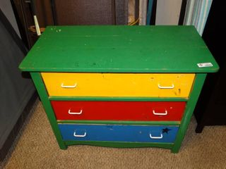 Colorful Small 3 Drawer Dresser