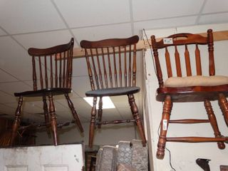 lot of 3 Wooden Chairs