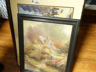 lot of framed wall art