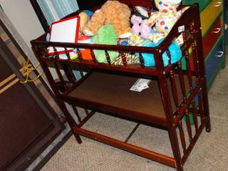 Wooden Baby Changing Table with Misc Toys