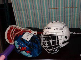 lot of Sporting Equipment  Helmets  Gloves  Etc