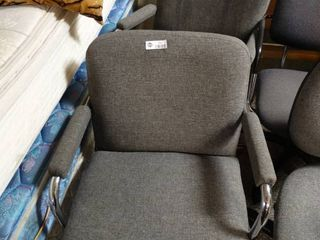 lot of two grey computer chairs