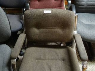 lot of computer   swivel chairs grey and red