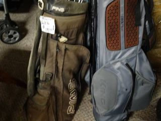 Ping and King golf club bags Ping bag comes with golf clubs