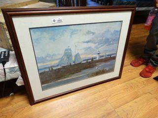 large framed sailboat print
