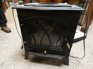 Electric movable fireplace