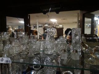 lot of clear glass all kinds of designs