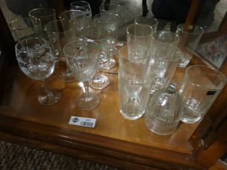 Christmas themed wine glasses and glass drinking cups