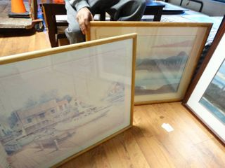 2 pcs framed wall art