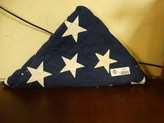 Folded up American Flag