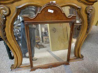 Unique wooden framed mirror