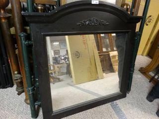 Nice black wooden framed mirror
