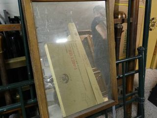 Nice sized wooden framed mirror for a dresser