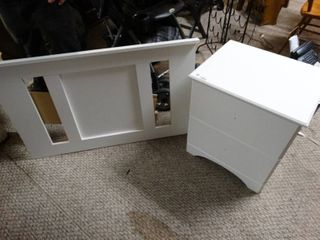 Twin headboard and end table