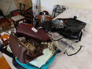 lot of hand bags and purses