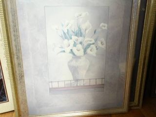 4 pcs various framed wall art
