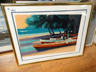 Framed scenery wall art  signed   numbered
