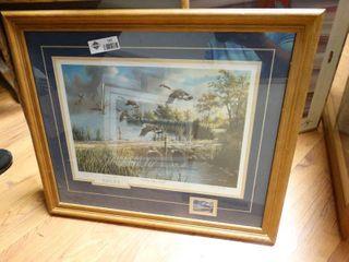 2 framed wildlife prints