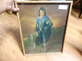 Framed blue boy print