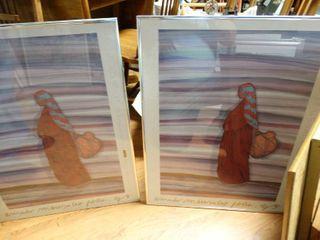 2 framed southwest prints