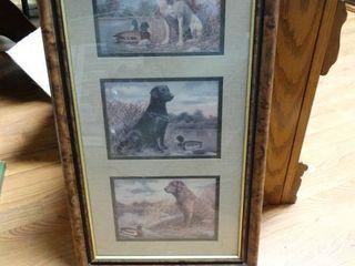 Framed print of dogs