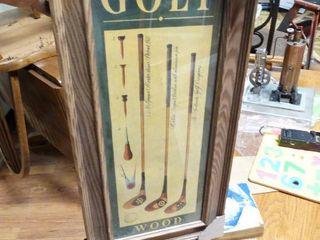 Framed Golf print