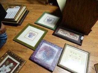 lot of various framed prints