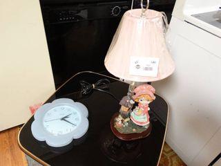 figurine lamp   clock
