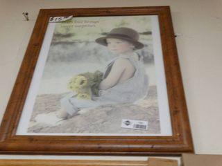 Assorted framed prints