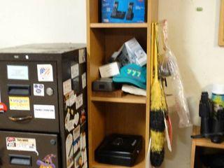 Storage shelf w  contents