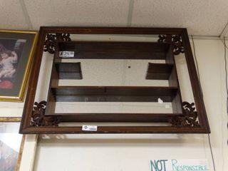 Wall knick knack shelf