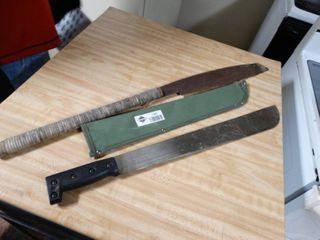 2 machetes