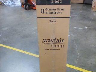 8  Wayfair Sleep TWIN SIZE Memory Foam Mattress