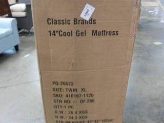 Cool Gel 14  Medium Gel Memory Foam Mattress TWIN Xl