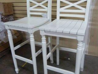Pair of White Barstools