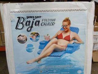 Baja Folding Floating Pool Chair   Marina Blue