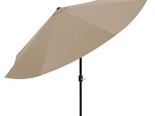 Pure Garden patio umbrella with auto tilt 10 ft sand