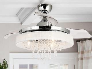 Silver Orchid Shearer 3 blade ceiling fan