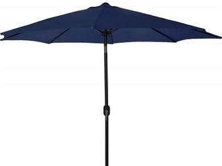 Jordan Manufacturing 9 Ft  Steel Outdoor Umbrella  Blue