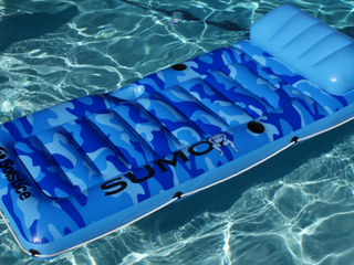 Solstice Swimline Sumo Float Pool Mattress   Blue