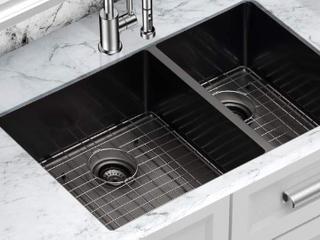 33  Matte Black Kitchen Sink Undermount