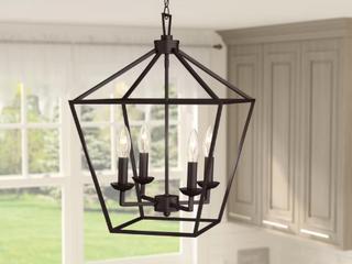 Carmen 4 light lantern Geometric Pendant