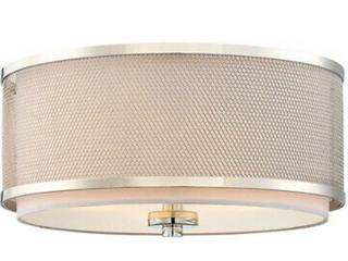 Meridian lite Trend 1 light Semi Flush   Natural Brass